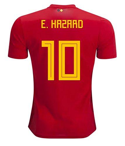 Opali 's Hazard 10 Belgium National Soccer Team 2018 Soccer JerseyサイズM B07CDDCTG5