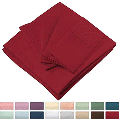 Cosy House Collection Elegant Bed Sheets - Twin