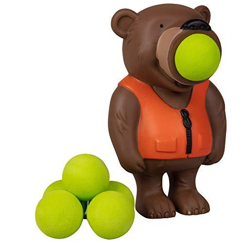 Hog Wild Bear Popper Toy - Shoot Foam Balls Up to 20 Feet - 6 Balls Included - Age 4+