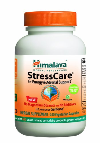 Himalaya Herbal Healthcare StressCare/Geriforte, Anti-Stress, 240 Vegetarian Capsules