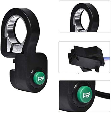 Noir Interrupteur de klaxon de scooter /électrique pour bouton darr/êt Wuxing Dk-02 Bouton denceinte de v/élo /électronique pour scooter /électrique pour v/élo de montagne
