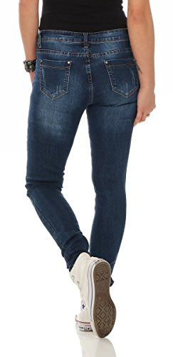 blau 38 turquoise 11387 Jeans turquoise Femme Fashion4Young 4qw7YU0