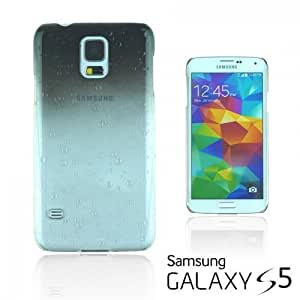 OnlineBestDigital - Transparent Gradient Water Drop Design Hard Back Case for Samsung Galaxy S5 - Black