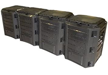Jardín compostador TI-1600L Negro módulo termocompostador (Compost Contenedor plástico