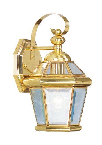 Livex Lighting 2061-02 Outdoor Wall Lantern with Clear Flat Glass (02 Georgetown Outdoor Light)