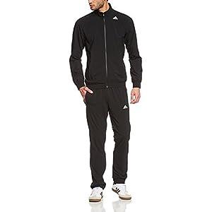 adidas Men's Essentials Woven Tracksuit Track Top Pants Training Set Black S22466