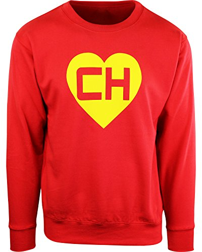 Colorado Crew Sweatshirt - Chespirito Chapulin Colorado Crew Neck Mens Sweatshirt (L, Red)