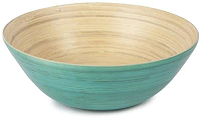 Core Bamboo Modern Round Bowl Extra Large in Teal