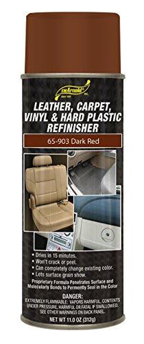 SM Arnold (65-903) Leather, Carpet, Vinyl & Hard Plastic Refinisher, Dark Red - 11 oz.