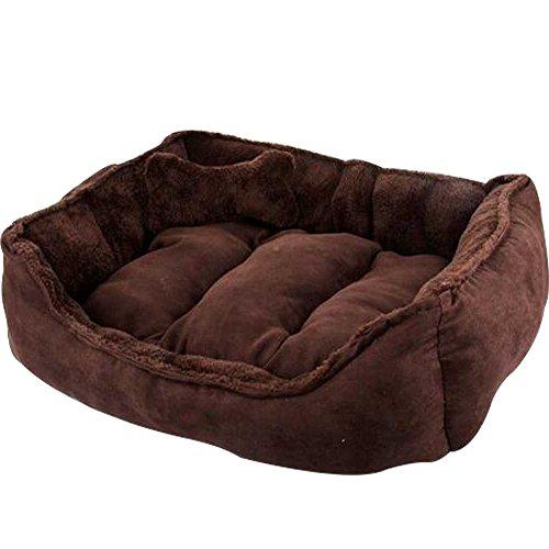 WYSBAOSHU Warm Soft Pet Nest Heavy Duty Overstuffed Pet Beds for Cats & Dogs (L:6050cm, Brown) by WYSBAOSHU