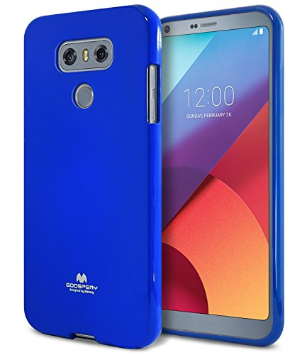 LG G6 Case, [Thin Slim] GOOSPERY [Flexible] Color Pearl Jelly Rubber TPU Case [Lightweight] Bumper Cover [Impact Resistant] for LG G6 (Navy) G6-JEL-NVY
