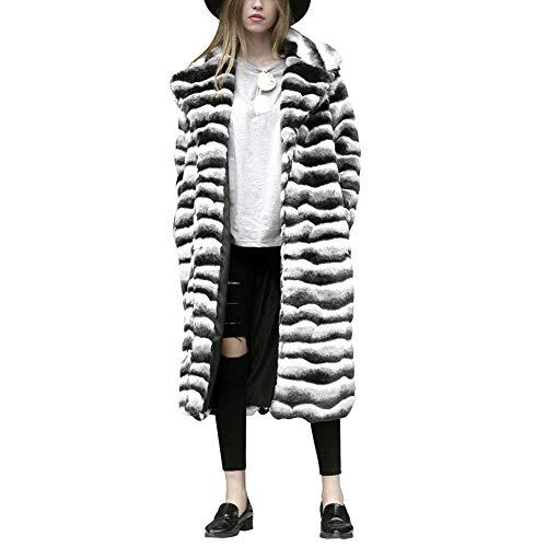 Donna Pelliccia large In Bianco Grande Collo Caldo Outwear Di Finta Cappotto Invernale X Bianco Da 1qxBUfwfEY