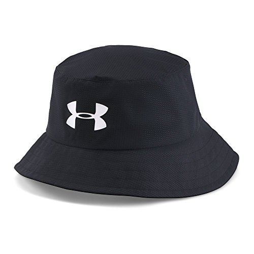 Under Armour Men's Storm Golf Bucket Hat, Black (002)/White, Large (Bucket Fit Storm)