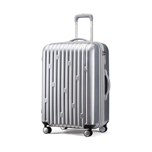 (Jstyal968 Yalztc-zyq16 Travel Trolley case, Business Boarding Travel Induction Box 20/26 inches (Color : Silver, Size : 20in))