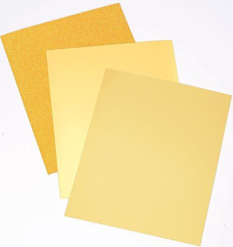 Crafter's Companion CP-LMIX-GOLD811 Mixed Card Pack- Gold Luxury Cardstock Crafter' s Companion