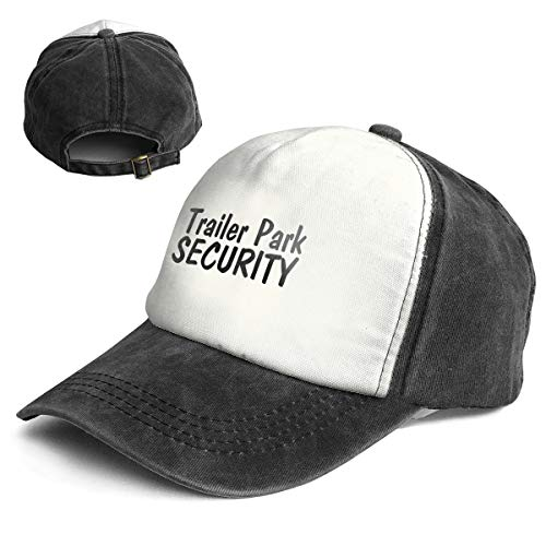 (Trailer Park Security Vintage Baseball Cap for Women and Men Adjustable Trucker Sun Visor)