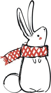 Merry Christmas Holiday Winter Forest Animal Cartoon Vinyl Decal Sticker (12