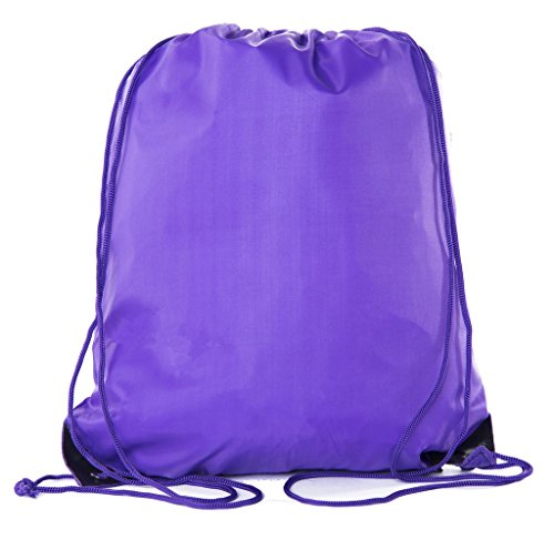 Mato & Hash 25 Bags - Double Strap Drawstring Gym Sack Promotional Party Favor Bag - 15 Colors