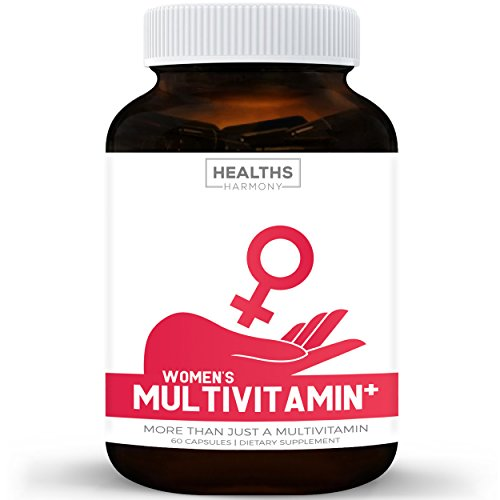 Women's Multivitamin+ (NON-GMO) Daily Vitamins & Minerals Plus Energy Boost, Hair, Eye Health & Antioxidants: With Biotin, Zinc, Selenium & Lutein – Multivitamin For Women – 60 Capsules (Multi Tablet) For Sale