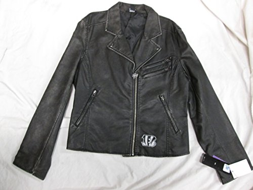 Cincinnati Bengals Womens X-Large (XL) Touch By Alyssa Milano Faux Leather Jacket ACIB 17 - Leather Coat Milano
