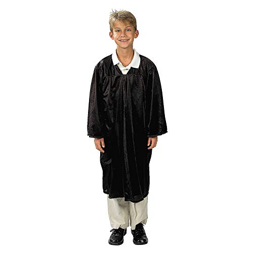 Fun Express - Child Black Robe for Christmas - Apparel Accessories - Costumes - Kids - Unisex Costumes - Christmas - 1 Piece