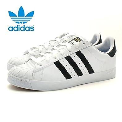 adidas shoes アディダス シューズ スニーカー superstar vulc adv 白/黒/白 d68718