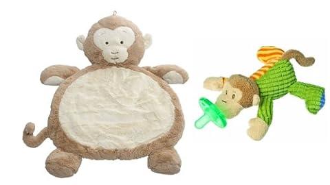 Mary Meyer Bestever Baby Mat with WubbaNub Infant Pacifier, Monkey (Mary Meyer Wubbanubs)