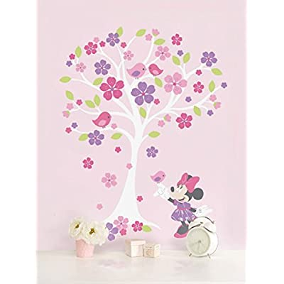 Disney Baby Minnie Mouse Love Blossoms Baby Girl Wall Decal Pink: Home Improvement