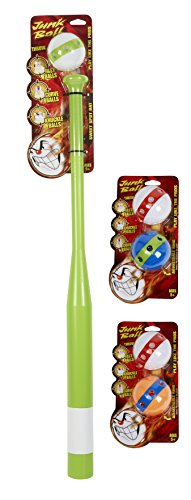 Little Kids Junk Plastic Baseball Bat Set, Bonus 4 Exta Balls Toy (6 Piece), Green by Little Kids