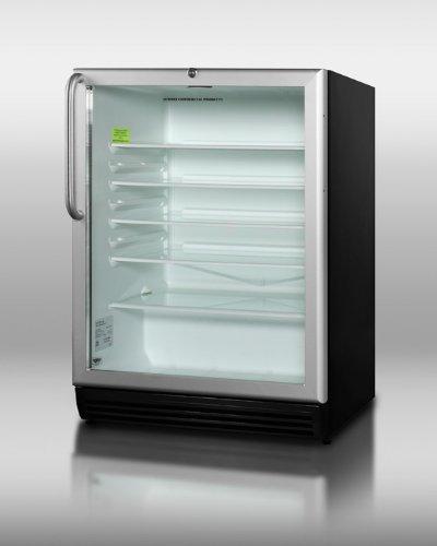 Summit SCR600BLBITBADA Beverage Refrigeration, Glass/Black
