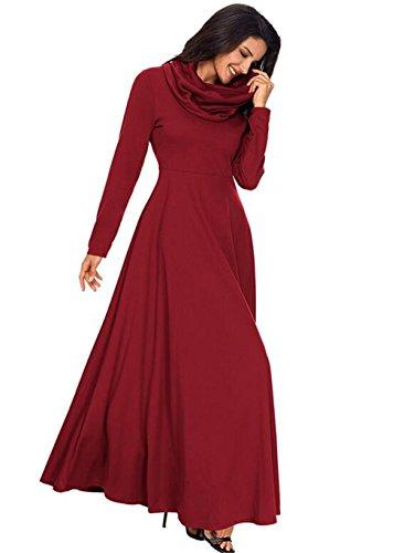 colore media dress lunghezza Gonne di solido TYAW Red in cotone waist High 5zIqWwHd
