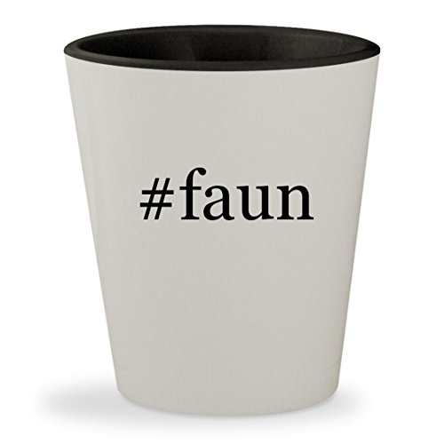 #faun - Hashtag White Outer & Black Inner Ceramic 1.5oz Shot Glass