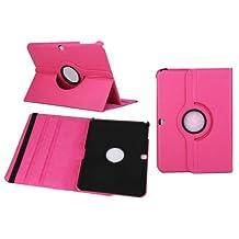 Housse Samsung GALAXY Tab 4 10.1 Pouce SM-T530N / T531N / T535N / T530 Etui Cuir Protection Cas Stylo (Rose)