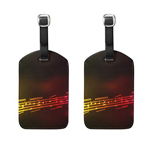 Luggage Tags Music Notes Rainbow Womens Bag Suitcase Tags Holder traveling accessories