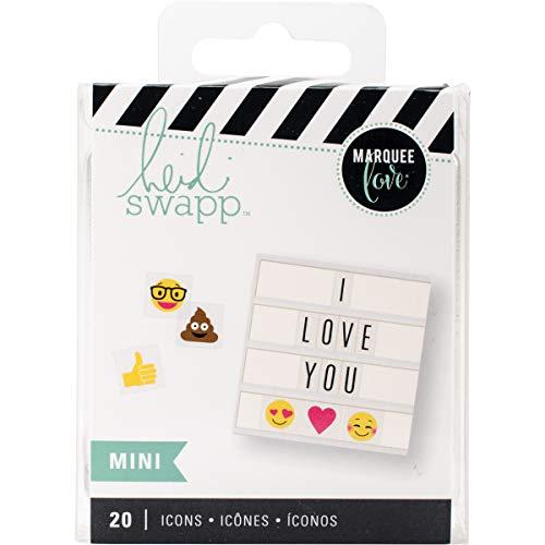 American Crafts Heidi Swapp Lightbox Mini Icon Inserts Emoji 20 Piece