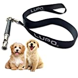 LUPO Silent Dog Whistle with Lanyard, Adjustable Ultrasonic Frequencies & FREE Training Ebook. Recall & Stop Barking. Effective Way Of Training Any Breed of Dog