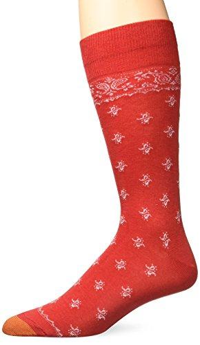 Gold Toe Men's Fashion Dress Crew Socks, 1 Pair, Bandana Paisley, Shoe Size: 6-12.5 ()