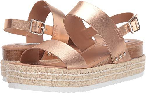 Steve Madden Women's Catia Wedge Sandal Rose Gold 8.5 M US (Steve Gold Madden Shoes)