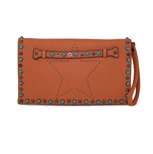 Beige Orange Clutch Star Diva Studs for Women Haute Bag WqaAw80WZ