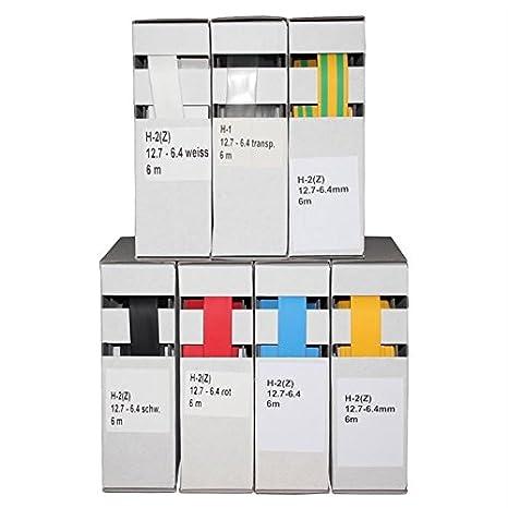 hochwertige Kabelverkleidung von gocableties 1.2 mm x 12 m - 2: 1 /Übersetzung Hochwertige wei/ße Schrumpfschlauch-Mini-Spule wei/ß