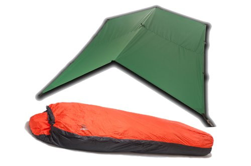Aqua-Quest The Mummy Combo 2-pc Camping System – 100% Waterproof – 13 x 10 ft Large Guide Tarp – Green