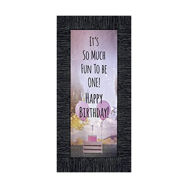 CROSSROADS HOME DÉCOR Birthday Girl, My First Year Moments, Baby Keepsake Picture Frame, 6×12 7407CH