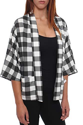 S blanco negro talla 4tuality Chaqueta para kimono mujer estilo Xl xznwqzYFT6