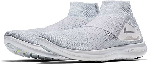 Zapatillas de 42 Wolf EU Pure Nike Grey Platinum 5 Free Blanco Hombre Trail FK Motion Running 100 RN 2017 Volt para White On1A1HYX