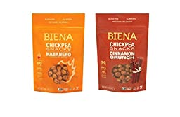 Biena All Natural Roasted Habanero and Cinnamon Crunch Chickpea Snacks 5oz (Pack of 2)