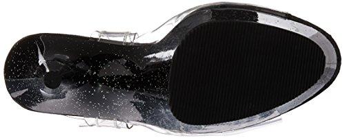 Sandal Pleaser Black Delight Women's 608mg Clr wtzq6PBt