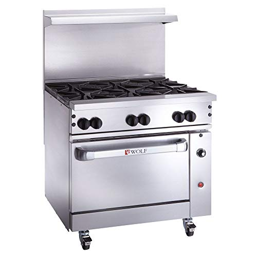 Wolf C36C-6B Challenger XL Series, 6 Burners, 1 Convection Oven, Natural Gas, -