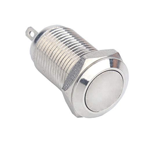 プッシュボタンスイッチ ラッチング 10mm 36V 金属 フラットヘッド