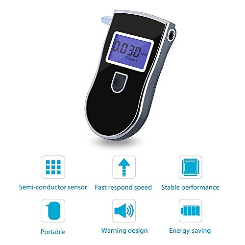 Topelek - Éthylotest Electronique Homologué -  Alcootest - Portable et Compact Ecran new