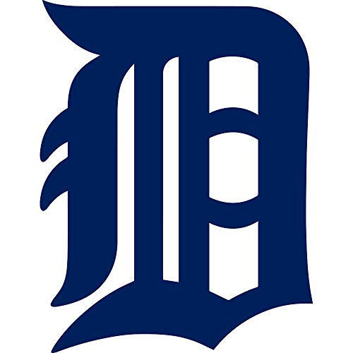 NBFU DECALS MLB Detroit Tigers Logo (Navy Blue) (Set of 2) Premium Waterproof Vinyl Decal Stickers for Laptop Phone Accessory Helmet CAR Window Bumper Mug Tuber Cup Door Wall Decoration